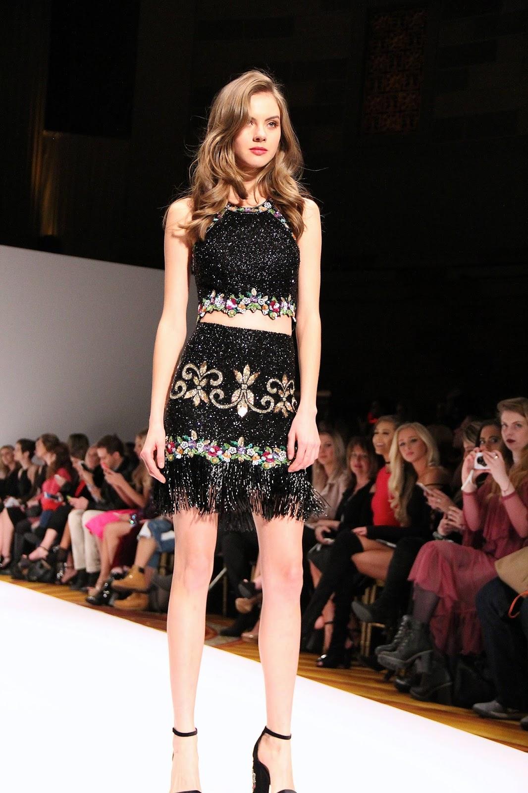 93ec4eb9897 Sherri Hill Fall Winter 2017 at New York Fashion Week took place at Gotham  Hall