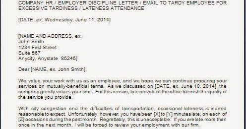 Warning Letter To Employee For Late Coming