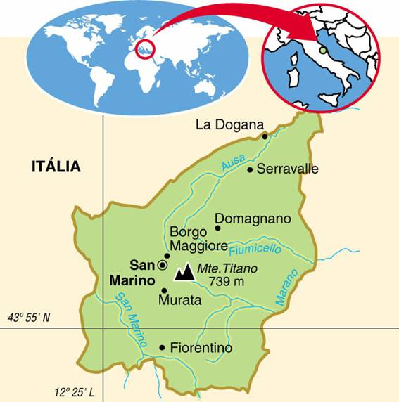 SAN MARINO - ASPECTOS GEOGRÁFICOS E SOCIAIS DE SAN MARINO