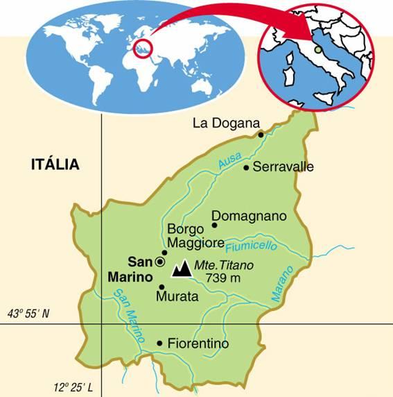 San Marino (60,5 km²)