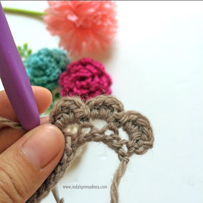 crochet flower tutorial, cara membuat bunga rajut mudah, tutorial bunga rajut