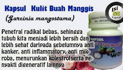 Kapsul Kulit manggis Herbal murah Surabaya ekonomis 50 Kapsul