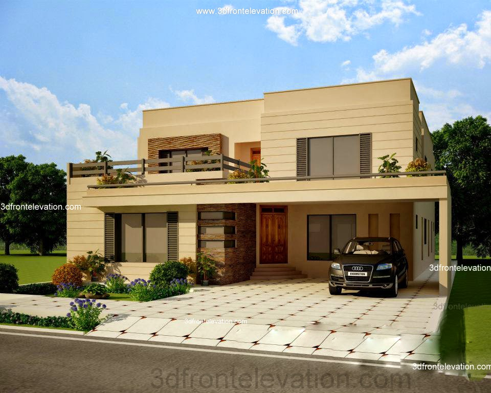Beautiful front elevation of small house plans modern for Beautiful front of houses