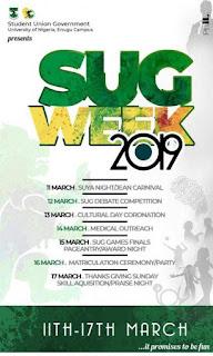 UNN, Enugu Campus (UNEC) Announces 2019 SUG Week