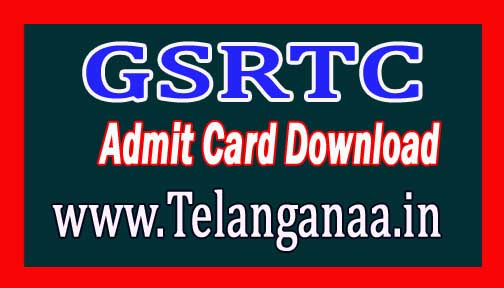 GSRTC Admit Card Download 2018