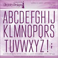 Divinity Designs LLC Custom Long and Lean Letters Dies