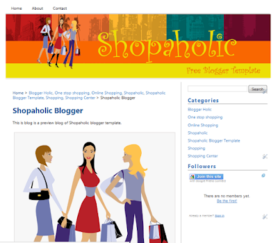 Shopaholic Blogger Template