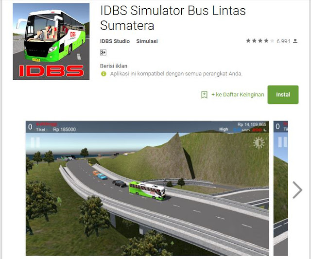 IDBS Simulator Bus Lintas Sumatra