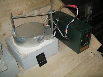 печь с контроллером, с новой термопарой