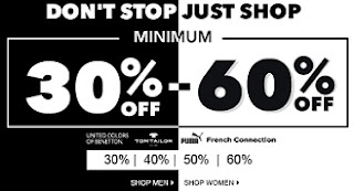Jabong Men's / Women's Clothing, Footwear & Accessories – Min 30% – Max 60% Off