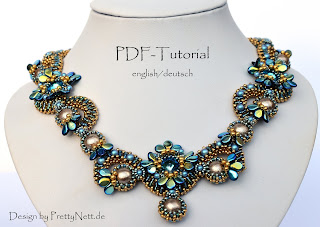 Beaded necklace design by PrettyNett.de