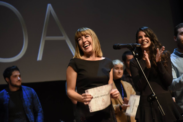 Ana Caldas y Ana Ramón Rubio recogen tres premios en el Bilbao Seriesland de 2017