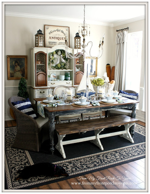 French Famrhouse-Nautical Dining Room- From My Front Porch To Yours