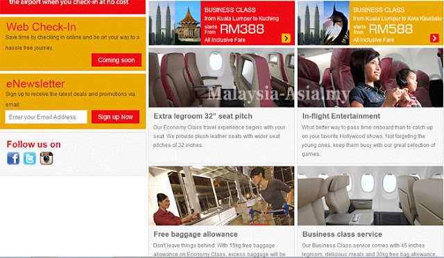 Website for Malindo Air