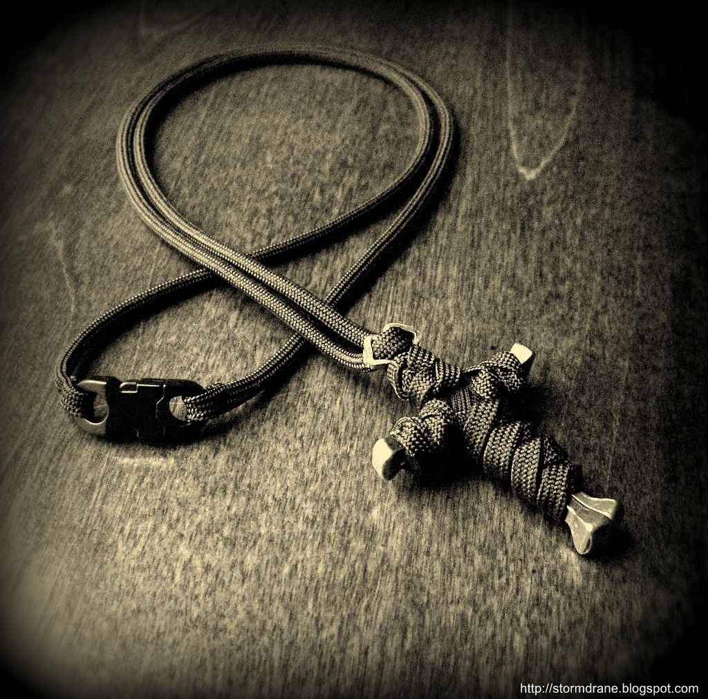 Stormdranes Blog Paracord And A Horseshoe Nail Cross Pendant