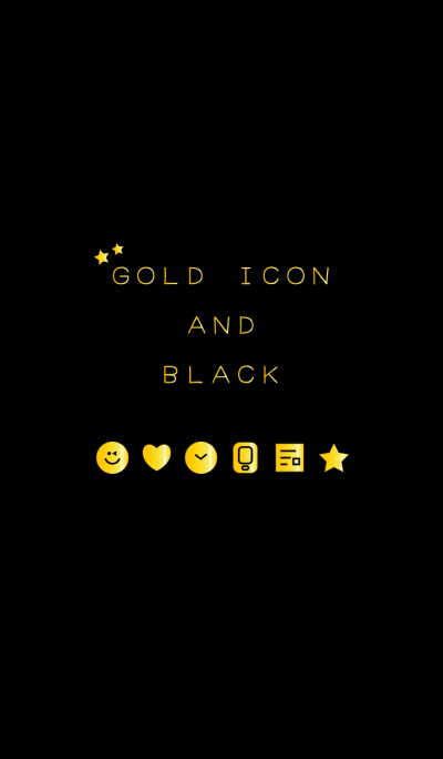 GOLD ICON AND BLACK