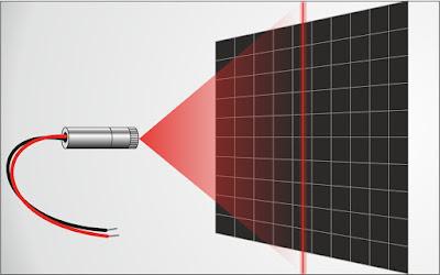 Linienlaser Modul mit roter Laserlinie