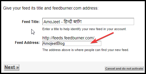 give-your-feed-address