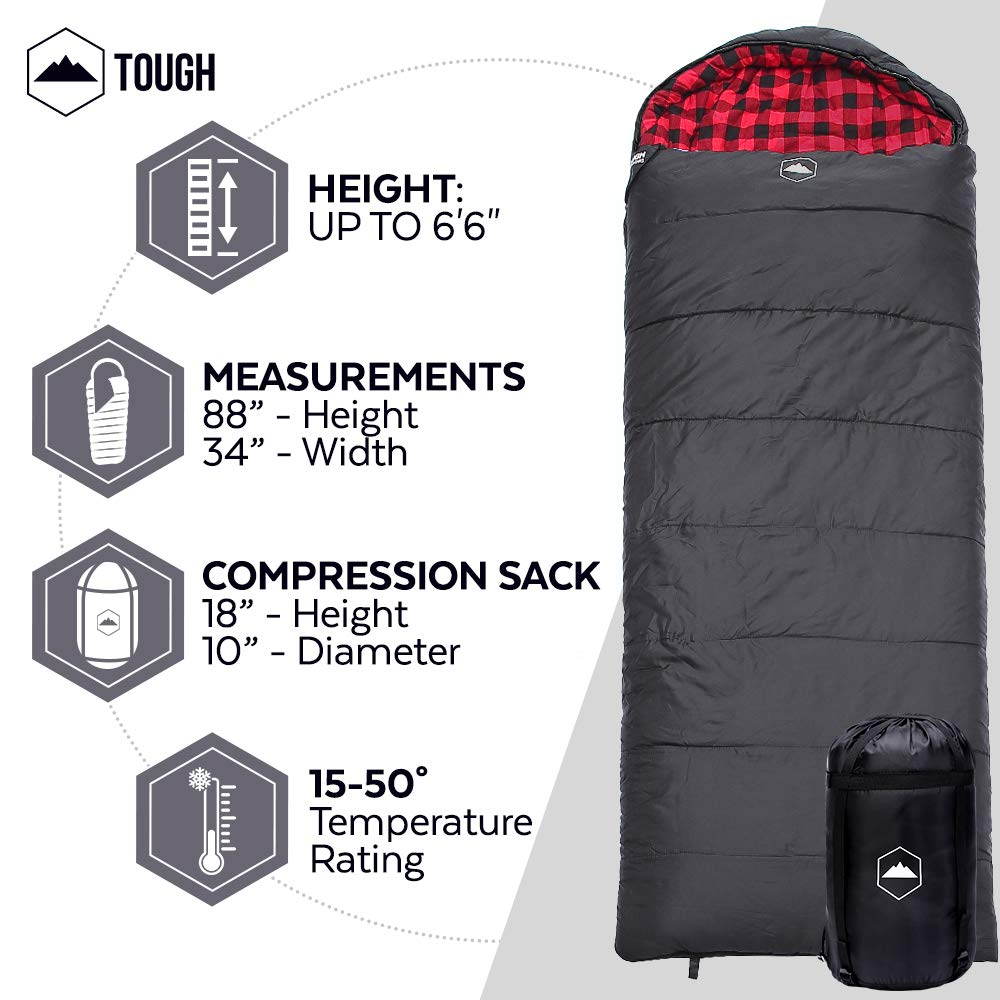 Great Sleeping Bag for Big & Tall