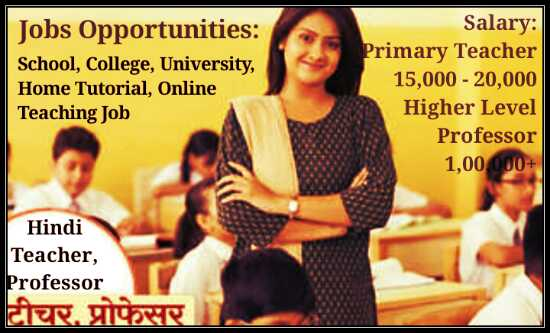 Hindi Teacher, Professor jobs