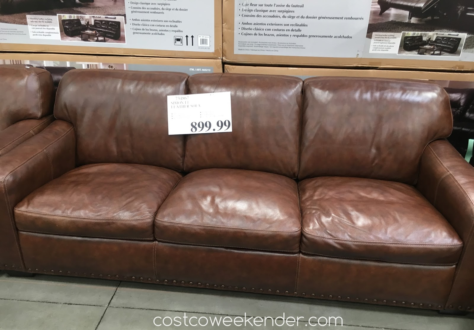 sofa costco ca how to take apart an electric recliner simon li leather weekender