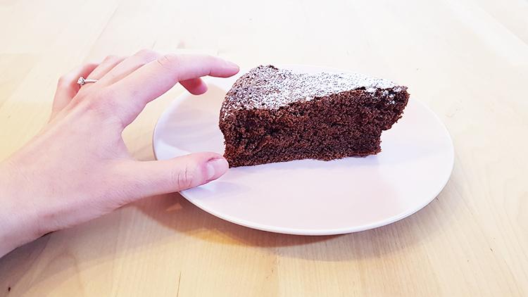Part de moelleux au chocolat