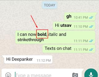 cara menebalkan atau bold tulisan di whatsapp