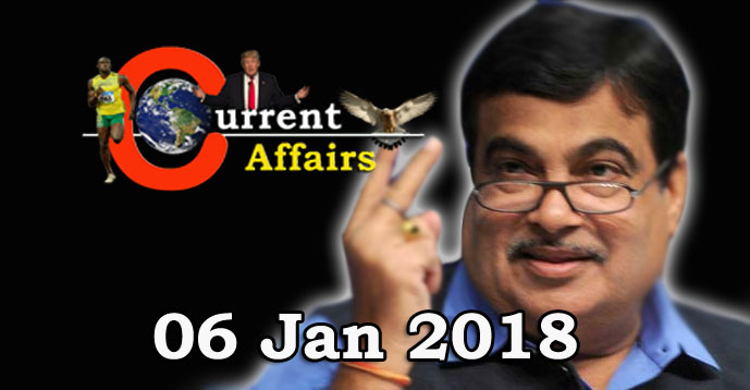 Kerala PSC - Daily Current Affairs 06/01/2018