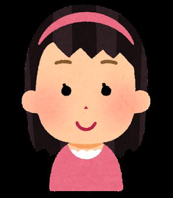 カチューシャを付けた女の子のイラスト