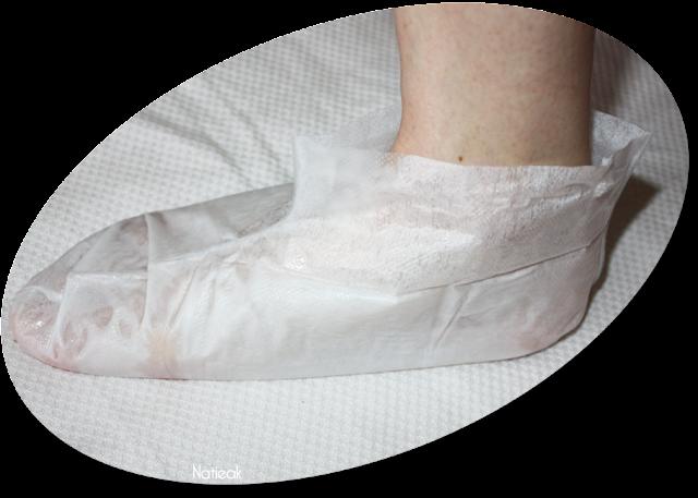 présentation du masque de Wrap Hydra-repair pieds  de Qiriness