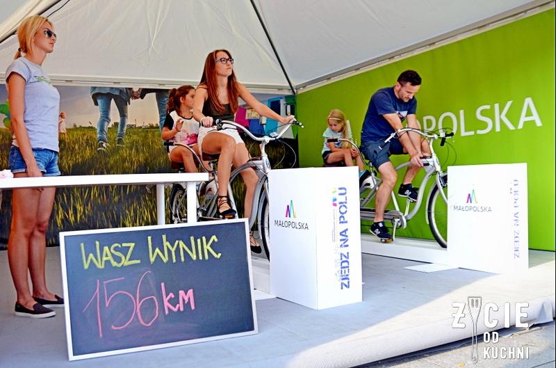 zjedz na polu, strefa rowerowa, festiwal kulinarny, malopolski festiwal smaku