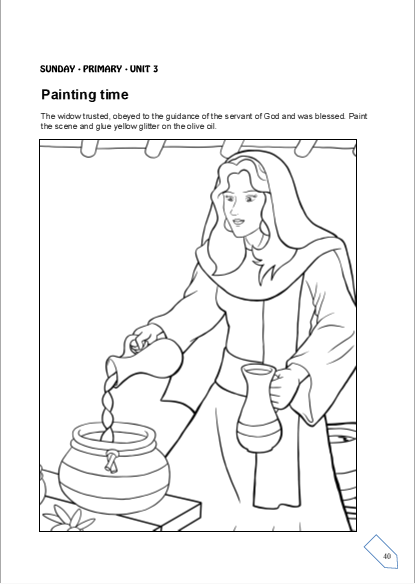elijah and the widow coloring page - free coloring pages of a room for elisha