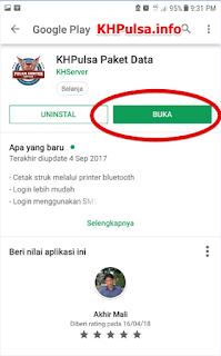 Jika proses download telah selesai, silahkan klik tombol BUKA.