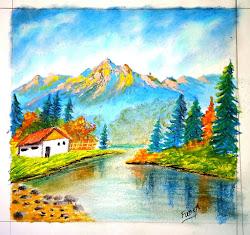 pastel oil beginners landscape easy drawing fancy