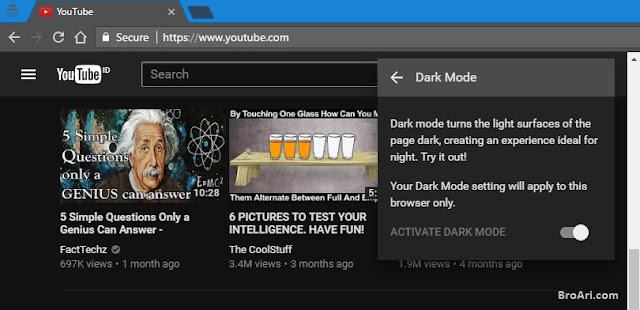Cara Mengaktifkan Fitur Dark Mode Tersembunyi YouTube