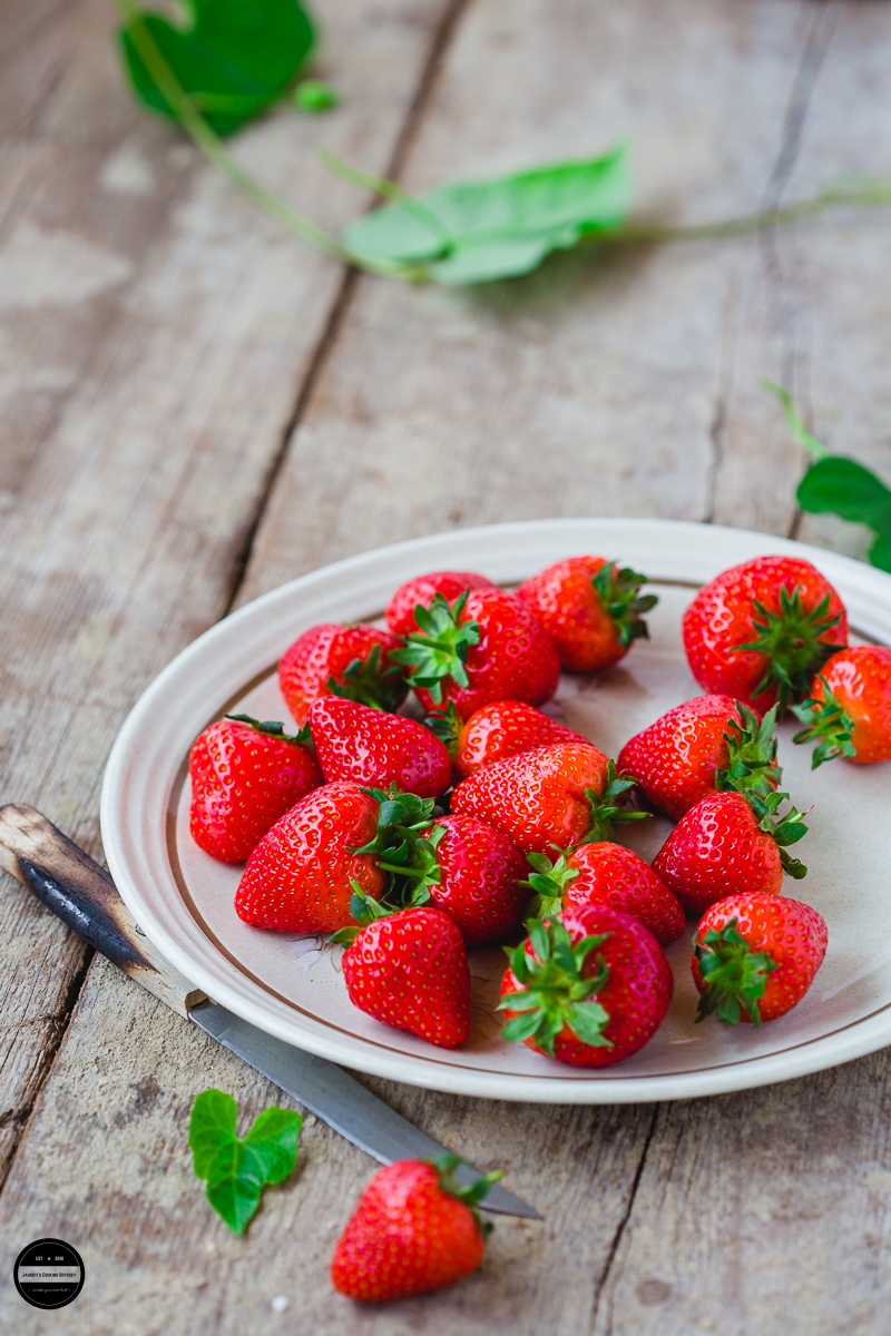 So juicy, warm and sweet strawberries from sunny Britain.
