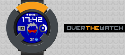 Overthewatch - watchface Pebble Time Round - Overwatch inspired