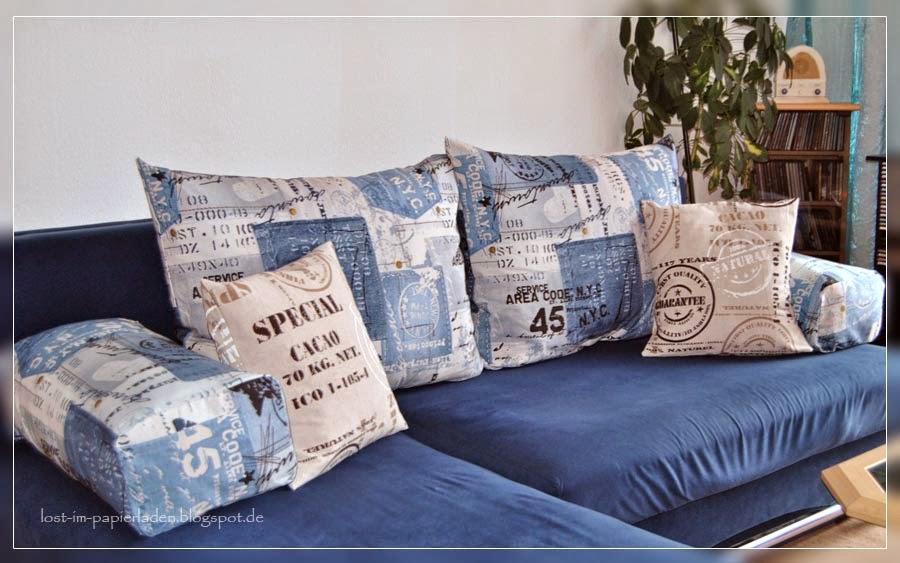 ... Der Meist Zweimal Im Jahr In Meiner Nähe Vorbeikommt. Ich Finde, Dass  Das Blau Sehr Gut Zum Restlichen Sofa Passt, Und Das Muster Gefällt Mir  Sowieso.