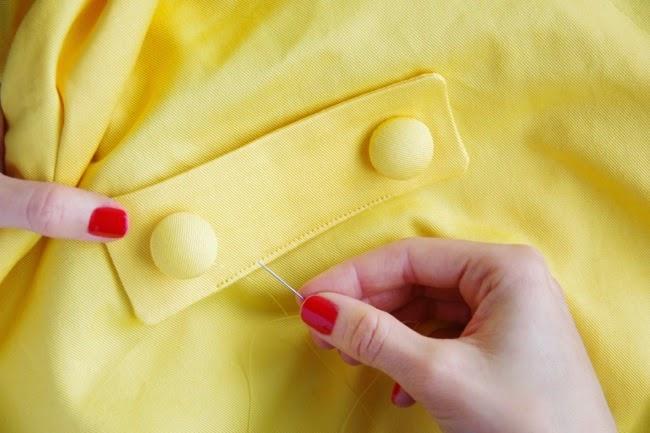 Sew a tab