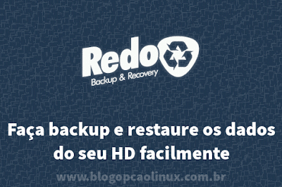 Faça backup e restaure o seu HD com o Redo Backup and Recovery