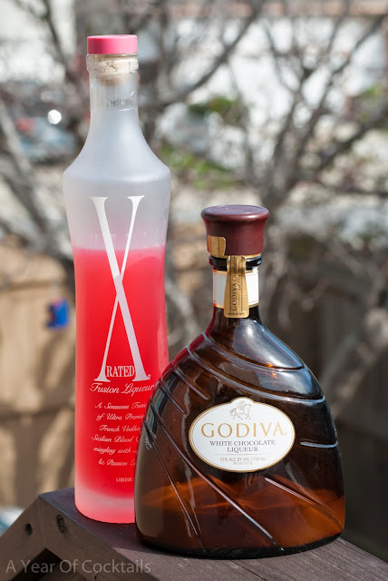 x-rated love bug, x-rated, x-rated liqueur, godiva white chocolate liqueur