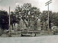 US Post Office Kerrville Texas under construction 1936