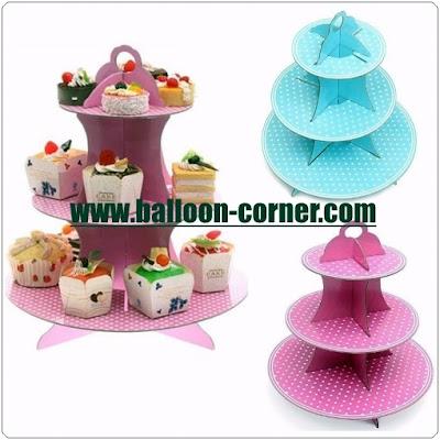 3 Tier Cake Stand Motif Polkadot