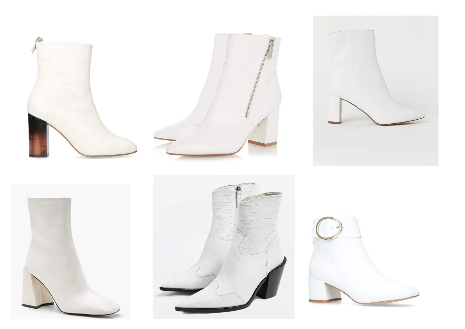 White Ankle Boots On The High Street