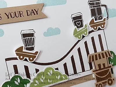 Let the Good Times Roll Satomi Wellard-Independent Stampin'Up! Demonstrator in Japan and Australia, #su, #stampinup, #cardmaking, #papercrafting, #rubberstamping, #stampinuponlineorder, #craftonlinestore, #papercrafting, #handmadegreetingcard, #rollercoaster #letthegoodtimesroll  #coffeebreak  #スタンピン #スタンピンアップ #スタンピンアップ公認デモンストレーター #ウェラード里美 #手作りカード #スタンプ #カードメーキング #ペーパークラフト #スクラップブッキング #ハンドメイド #オンラインクラス #スタンピンアップオンラインオーダー #スタンピンアップオンラインショップ #動画 #レットザグッドタイムスロール #ウェディングアニバーサリー #ジェットコースター #ポップアップカード #立体カード # オンラインクラスプロジェクト #コーヒーブレイク