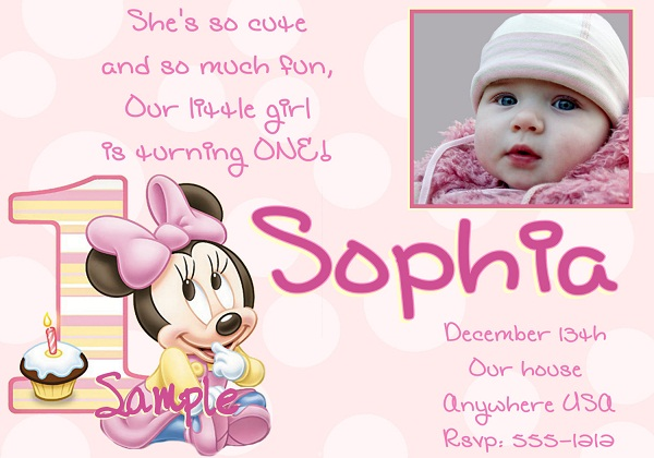 First Birthday Invitation Cards for Baby Boy Girl Romantic