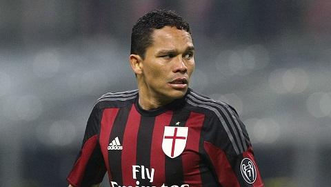 Bacca trong màu áo thi đấu của AC Milan