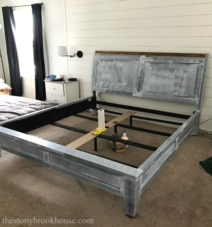 Primed bed frame