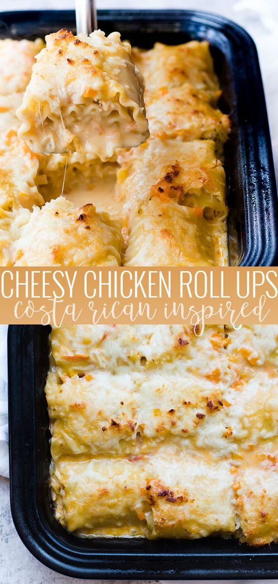 CHICKEN ROLL-UPS | Delicious, easy, comforting and sure to please the whole family #chiceknrecipes #easydinerrecipes