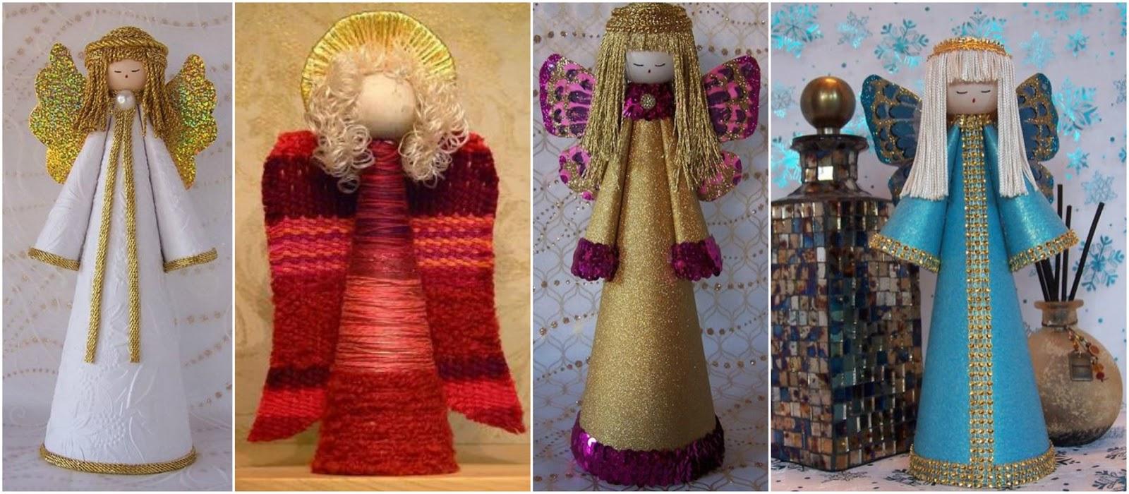 Aprende c mo hacer angelitos para el rbol de navidad for Salones decorados para navidad